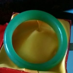 Green jade large size free silk bag